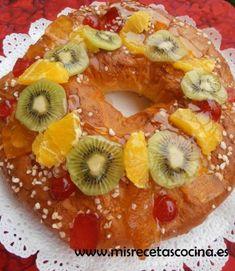 Receta Roscon de Reyes hecho con la thermomix #recetas #postres #thermomix
