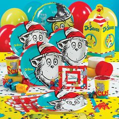 Dr. Suess Birthday Party Supplies Camden first bday ideas...suggest book gifts?