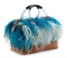 c1dfed811329 Furla 2012 Special Edition Burlesque Candy bag with Ostrich leather    feather