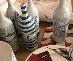 """Les """"arts"""" de la table de la déco bord de mer à faire aussi avec de l'acrylique ou du papier mâché peint puis verni"""