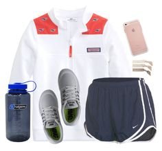 """""""Watching """"The Middle"""""""" by sc-prep-girl ❤ liked on Polyvore featuring NIKE, Emi-Jay and Nalgene"""