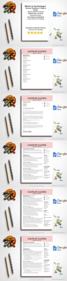 Resume Template Google Docs Resume Design Pinterest Google - google docs resume templates