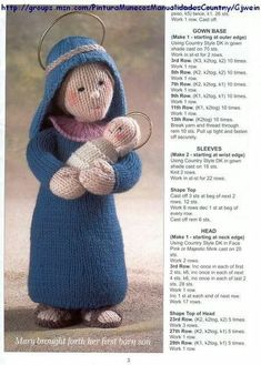 The Nativity Collection - Christmas crochet - Muscaria Amanita - Picasa Web Albums Knitted Christmas Decorations, Christmas Nativity Set, Christmas Knitting Patterns, Noel Christmas, Knitting Patterns Free, Christmas Crafts, Crochet Christmas, Xmas, Knitted Dolls