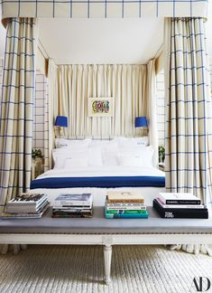 See More of Derek Blasberg's Fun-Filled Manhattan Apartment - Architectural Digest Guest Bedrooms, Manhattan Apartment, Upper East Side Apartment, Bedroom Design, Luxurious Bedrooms, Apartment, Bed, Bedroom, Architectural Digest