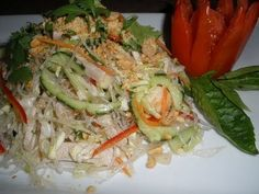 How to make Clear Noodle Salad (Neorm Masour) Cambodian Food