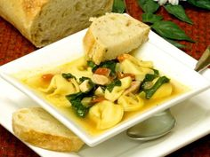 Add Pizzaz To Easy Tortellini Soup With Chicken, Tomatoes, And Spinach: Chicken Spinach Tortellini Soup Recipe