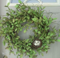 Grapevine and nest wreath idea. Could substitute book, bird, hedgie, etc