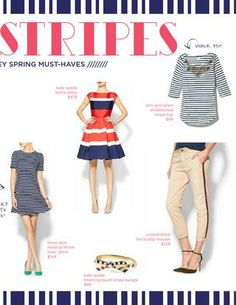 Trend alert! STRIPES. Debi Lilly's favorite stripey spring must- haves. #debililly #aperfectevent #fashion #trends #spring