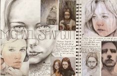29 ideas gcse art sketchbook portraiture for 2019 A Level Art Sketchbook, Sketchbook Layout, Sketchbook Pages, Art Journal Pages, Art Pages, Sketchbook Ideas, Fashion Sketchbook, Journal Ideas, Inspiration Art