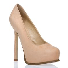 Nude heels will make your legs appear longer.