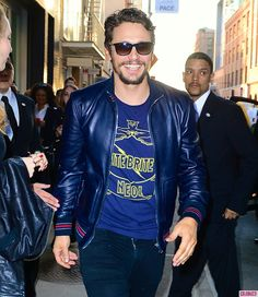A Super-Happy James Franco Steps Out for His Latest Art Gallery Exhibition