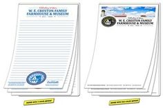 Scratch Pad / Notepad - 25 Sheets - 5.5x8.5 At 500 pieces or more, a great value under a $1!