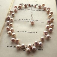 Cassiopeia Necklace - modern take on a pearl necklace =]