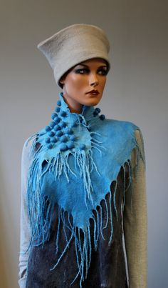Felted  scarf  Empyreal light by doseth on Etsy, €59.00