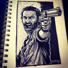 Inktober Day 13: Walking Dead by DerekLaufman.deviantart.com on @DeviantArt