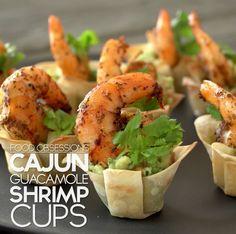 Cajun Shrimp Guacamole Cups