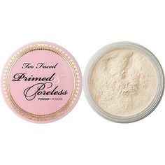TOO FACED Primed & Poreless Powder Too faced translucent setting powder. Only used a few times. Too Faced Makeup Face Powder Makeup Geek, Makeup Addict, High Definition Makeup, Mac Studio Fix Powder, Too Faced Makeup, Face Primer, Loose Powder, Setting Powder, Diy Beauty