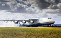 Download wallpapers large transport aircraft, AN-225, Ukrainian aircraft, Ukraine, Antonov Airlines