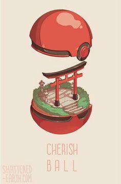 Cherish Ball, text; Pokémon