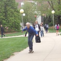Whoever this skateboarding professor is | 50 People You Wish You Knew In Real Life