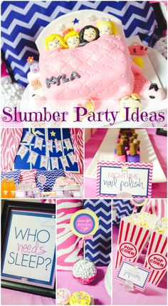 Amazing slumber party girl birthday ideas, including this incredible birthday cake! See more party ideas at CatchMyParty.com. #sleepover #slumberparty #girlbirthday