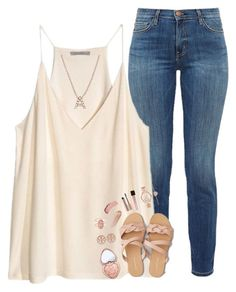 """""""and I had the best day, with you, today✨"""" by pineapple5415 ❤ liked on Polyvore featuring Current/Elliott, H&M, American Eagle Outfitters, Too Faced Cosmetics, Tory Burch, NARS Cosmetics, Bony Levy, Kendra Scott, Burberry and Michael Kors"""