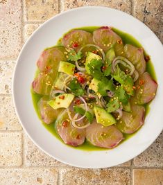 Mexican Aguachile Recipe - Mexican Yellowtail Sashimi | Hank Shaw Raw Fish Recipes, Seafood Recipes, Cooking Recipes, Shellfish Recipes, Whole30 Recipes, Mexican Recipes, Dinner Recipes, Yellowtail Recipe, Mexican Sushi