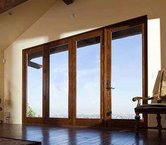 Doors for 2 living room doors Casement Windows, Windows And Doors, Room Doors, Entry Doors, Folding Patio Doors, Accordion Doors, Fiberglass Windows, Outside Living, Exterior Doors