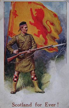 Patriotic WWI  postcard.