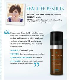 The power of real results from a product that works. #skinceuticals #resveratrolbe
