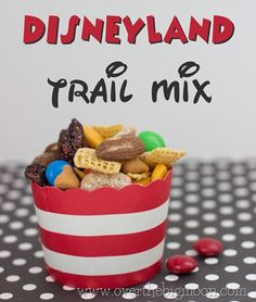 This is such a great train mix to pack for Disneyland. It has some protein and just enough sweet to make kids love it! Perfect for a quick snack for standing in line!