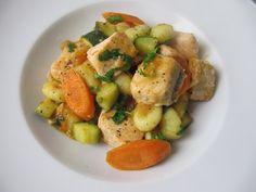 funnypilgrim: Rezept: Lachsgnocchi mit Gemüse