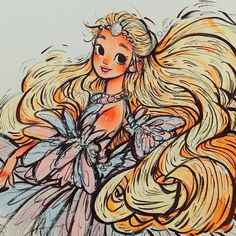 Odette the Swan Princess from Barbie in Swan Lake Cartoon Drawings, Cartoon Art, Cute Drawings, Pretty Art, Cute Art, Barbie Drawing, Character Art, Character Design, Barbie Movies
