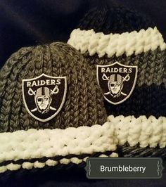 Oakland Raider Knit Hat FREE SHIPPING in US handmade infant toddler children Christmas gift  football teams fan gear winter wear (14.00 USD) by BrumbleBerryBoutique