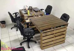 office desk europalets endsdiy. Another Great Use For Those Wooden Pallets That Are Free At Most Building Sites And Make Tables Or Office Desks . Desk Europalets Endsdiy G