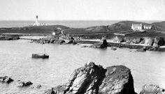 Tour Scotland Photographs: Old Photograph South Harbour Fair Isle Scotland