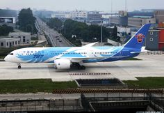 Airliners.net ‏- The magnificent special livery on China Southern's first 787-8. Allen Zhao
