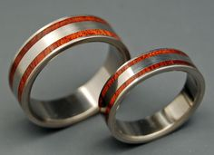 Meet You in the Middle - Wooden Wedding Rings. $500.00, via Etsy.