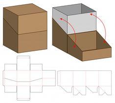 Box packaging die cut template design rnrnSource by Box Packaging Templates, Packaging Dielines, Tea Packaging, Design Packaging, Diy Gift Box, Diy Box, Scrapbook Box, Paper Box Template, Box Patterns