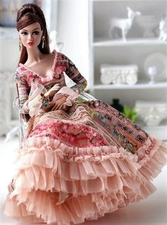 Doll Clothes Barbie, Barbie Dolls, Pretty Dolls, Beautiful Dolls, Fashion Royalty Dolls, Fashion Dolls, That Poppy, Black Bunny, Dolly Dress