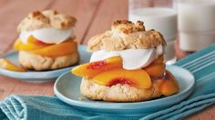 Make shortcakes with Original Bisquick™ mix. Fill this dessert with peach-ginger mixture and whipped cream.