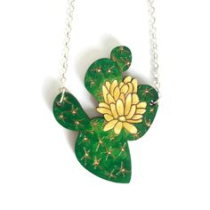 Colourful Cactus Flowers Jewellery Handmade Necklaces, Handmade Items, Handmade Gifts, Handmade Wooden, Tequila, Laser Cut Jewelry, Jewelry Design, Unique Jewelry, Flower Brooch