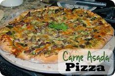 Resultado de imagen para pizza de carne asada
