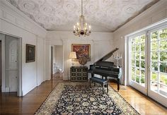 Piano room and French doors