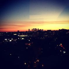 Sunset in Hollywood