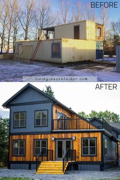 Future House, Shipping Container Home Designs, Shipping Containers, Shipping Container Cabin, Building A Container Home, Container Home Plans, Casas Containers, Tiny House Design, Building A House