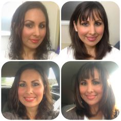 Before And After With Bangs Hairstyle Blonde Highlights Bangs