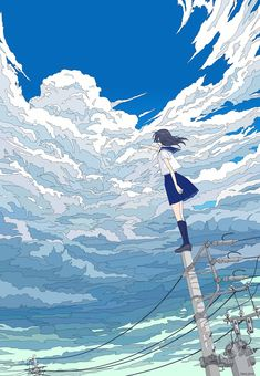painting and drawing Anime Art Girl, Manga Art, Pretty Art, Cute Art, Aesthetic Art, Aesthetic Anime, Art Mignon, Japon Illustration, Arte Obscura