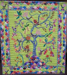 Springwood Community Quilt Show: April 2012   Judy Sanday's My Tree of Life. A Sue Cody design which was quilted by Carol Pratley.