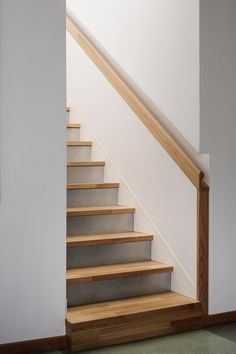 Since 1998 the Web Atlas of Contemporary Architecture Stair Handrail, Staircase Railings, Modern Staircase, Stairways, Spiral Staircases, Heated Concrete Floor, Concrete Floors, Railing Design, Staircase Design